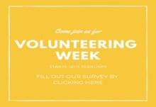 Volunteering week banner