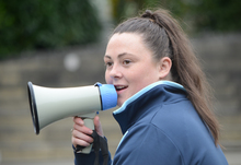 Charlie with megaphone