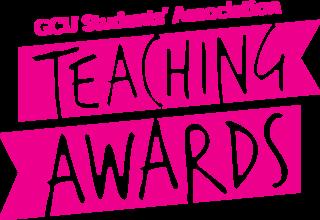 Teaching awards logo pink