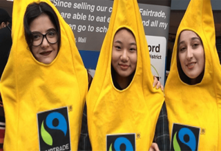 Bradford university students in banana suits