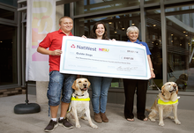 Guide dogs cheque presentation 600