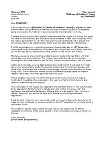 cutthecosts maintenance grants template letter to mps nus