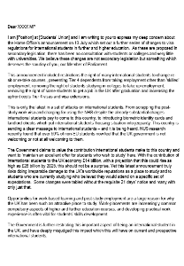 Template Letter To Mps Immigration Changes Nus Connect