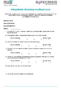 Standbyme workshop feedback form thumb