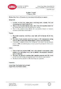 Elect chairs of executives via ballot motion 2014