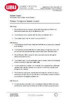 Improve student council motion 2013