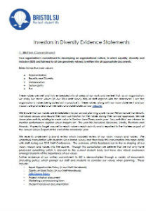 Investors in diversity evidence statements may16