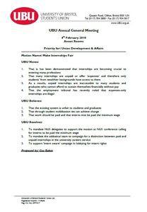 Make internships fair motion 2010