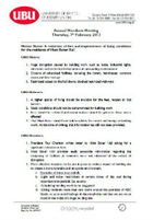 Reduction of fees and improved living conditions motion 2013