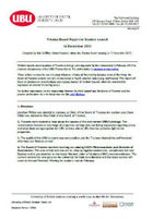 Trustee board report december 2013