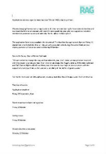 Bristol rag charity application form 2015