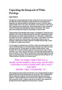 mcintosh white privilege summary