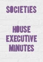 House exec minutes
