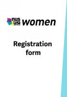 Nususi women conference registration frontpage