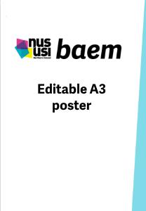 Nususi baem a3 editable poster