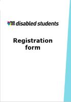 Nususi disabled students conference registration form frontpage