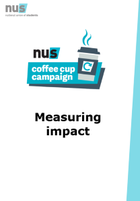 Nus coffee cup campaign measuring impact front page