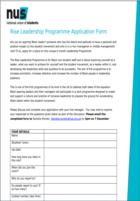 Rise leadership programme
