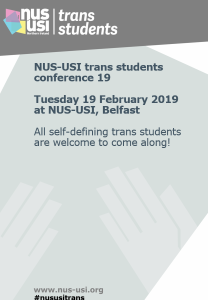 Trans conference poster front cover