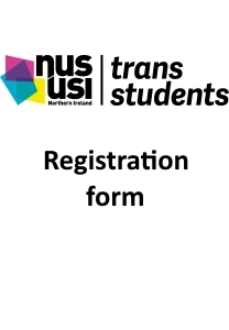 Trans students registration front page