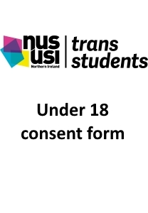 Trans students under18consent front page