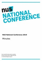The minutes of nus national conference