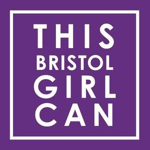 This girl can logo purple