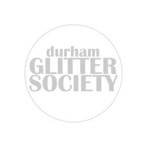 Glitter logo white