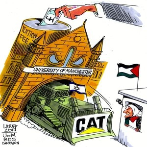 University of manchester bds campaign caterpillar israel palestine