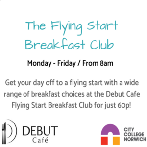 Flying start breckfast club logo