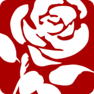Labour party red rose logo