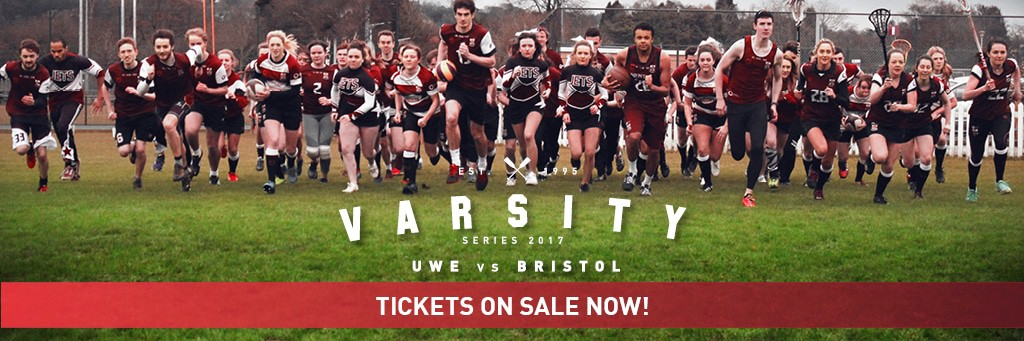 Bristol vs. UWE Varsity onsale ticket banner
