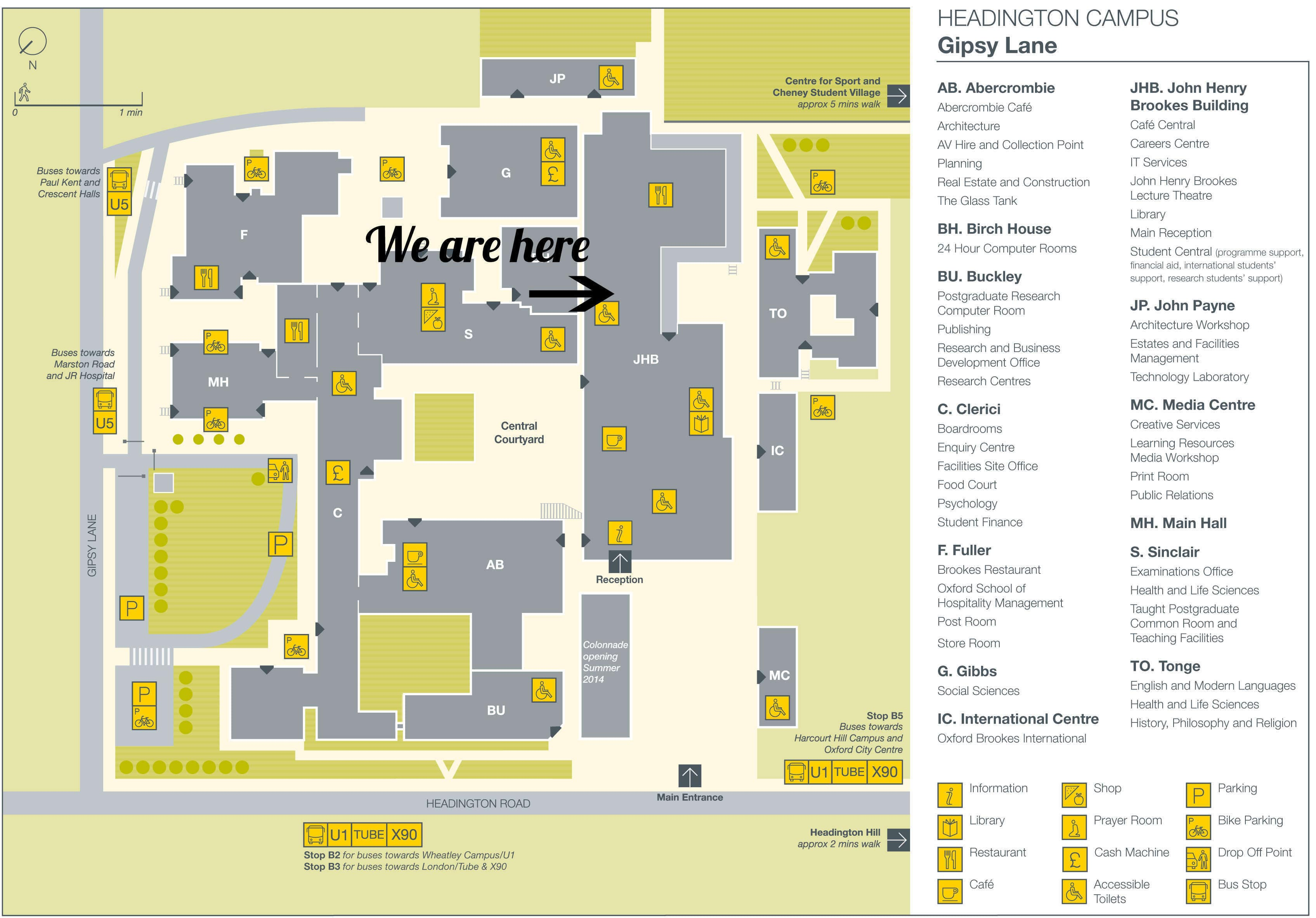 Wheatley Campus Map How to find us @ Oxford Brookes Students' Union