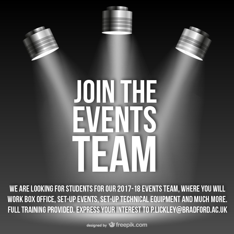 Events Team Advert 2017