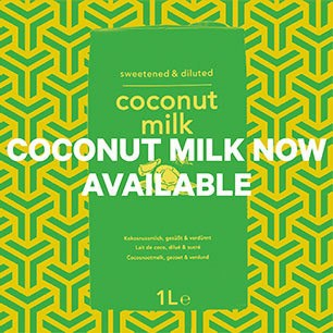 Coconut milk now available