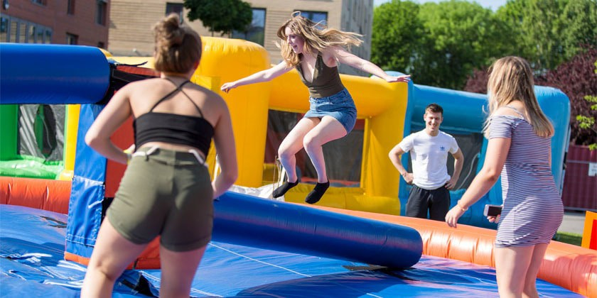 Students on Total Wipeout