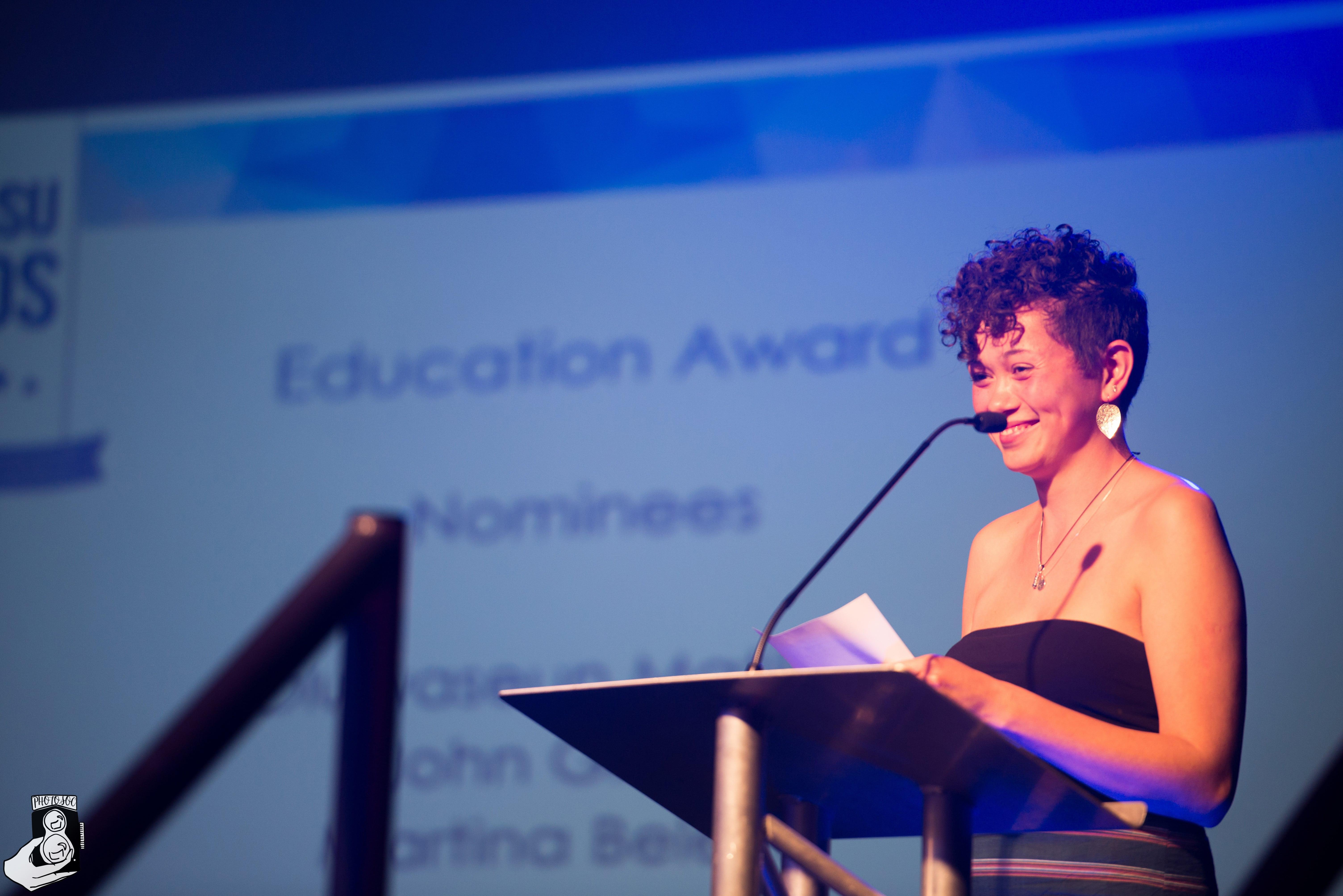 Seun Matiluko winning Education Award