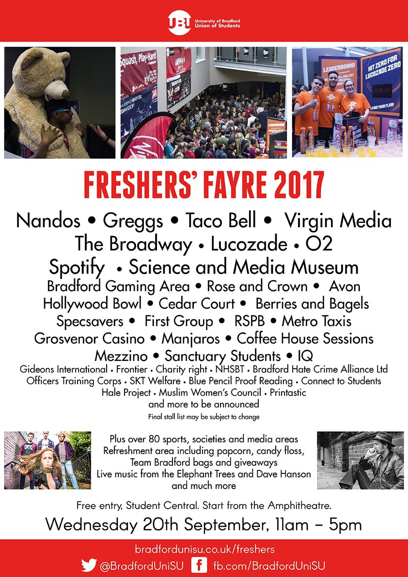 Freshers Fayre Small Poster