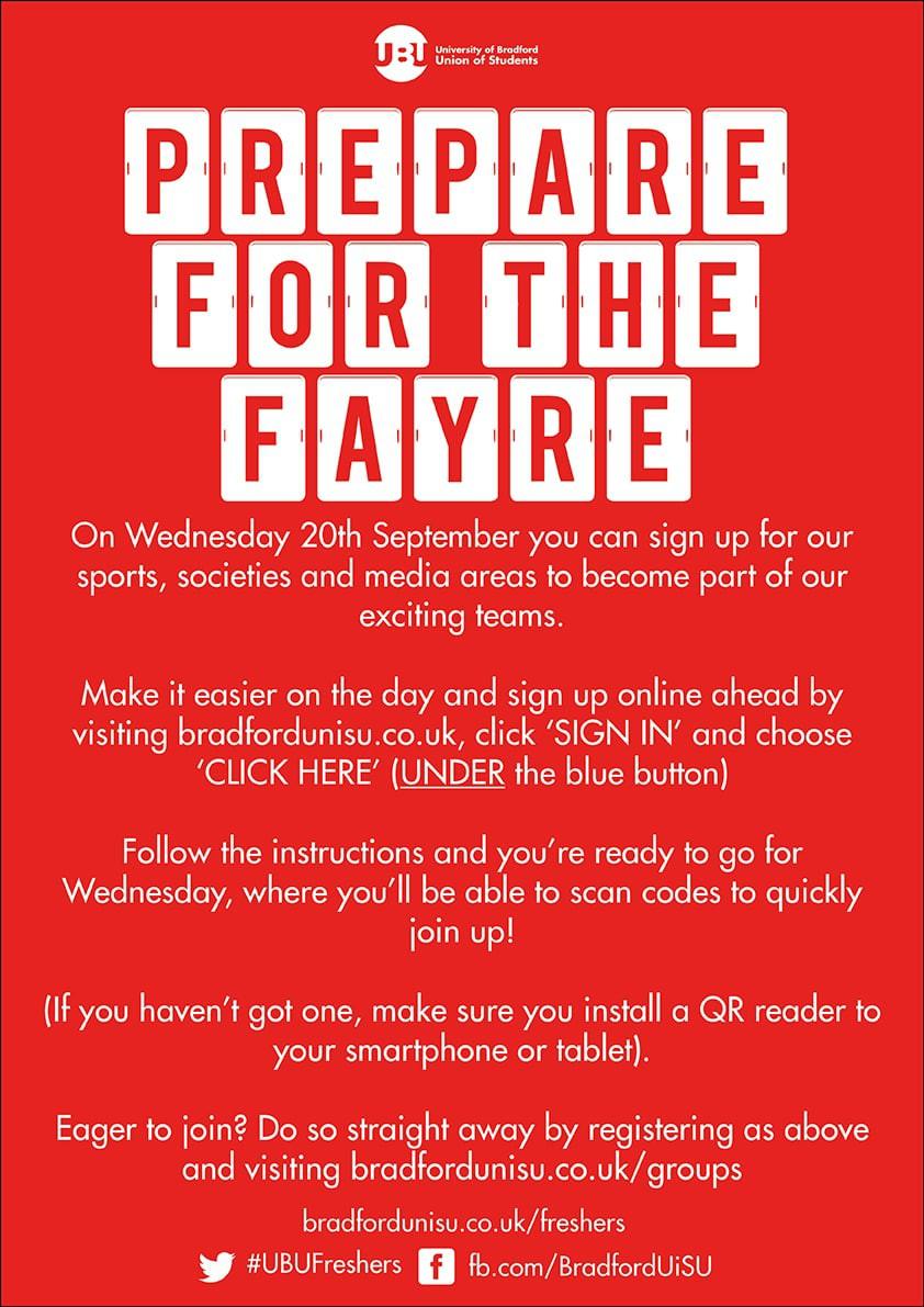 Prepare for the Fayre