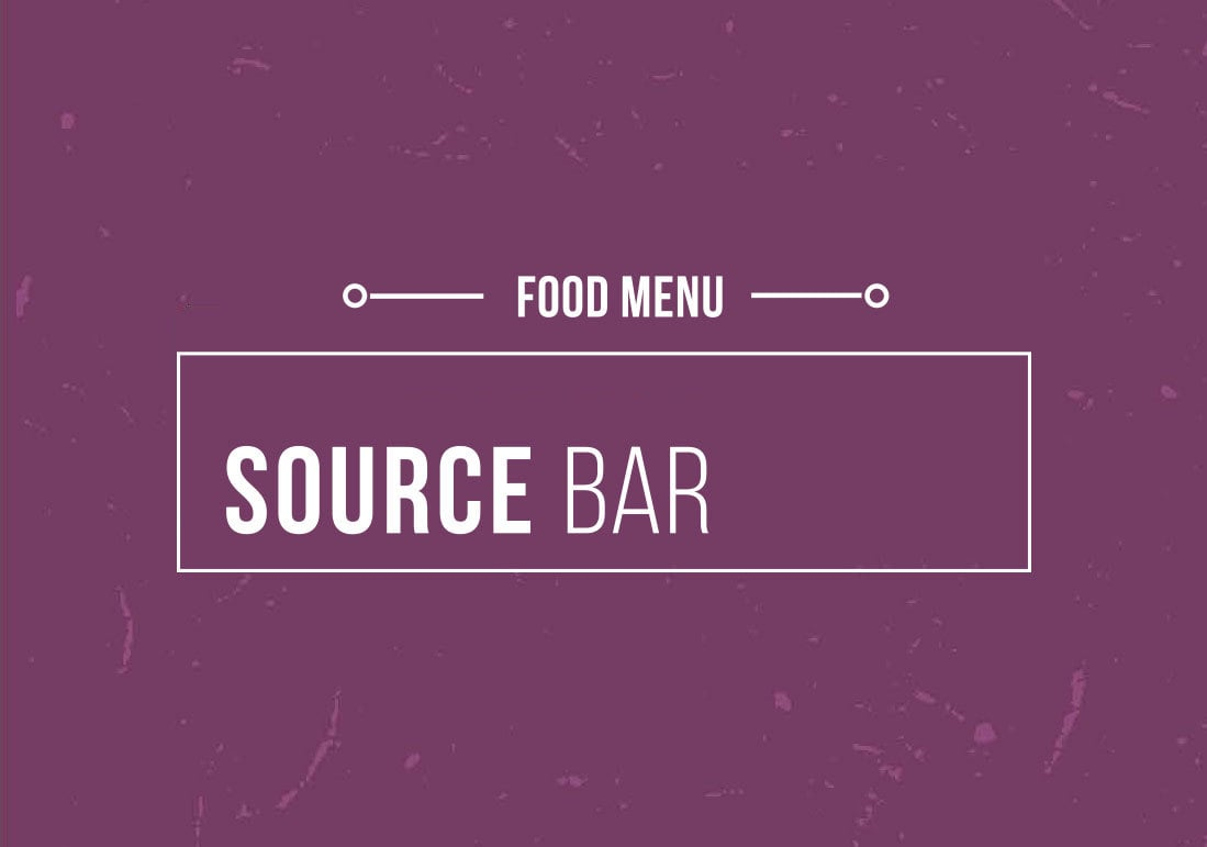 Source bar food menu 2019
