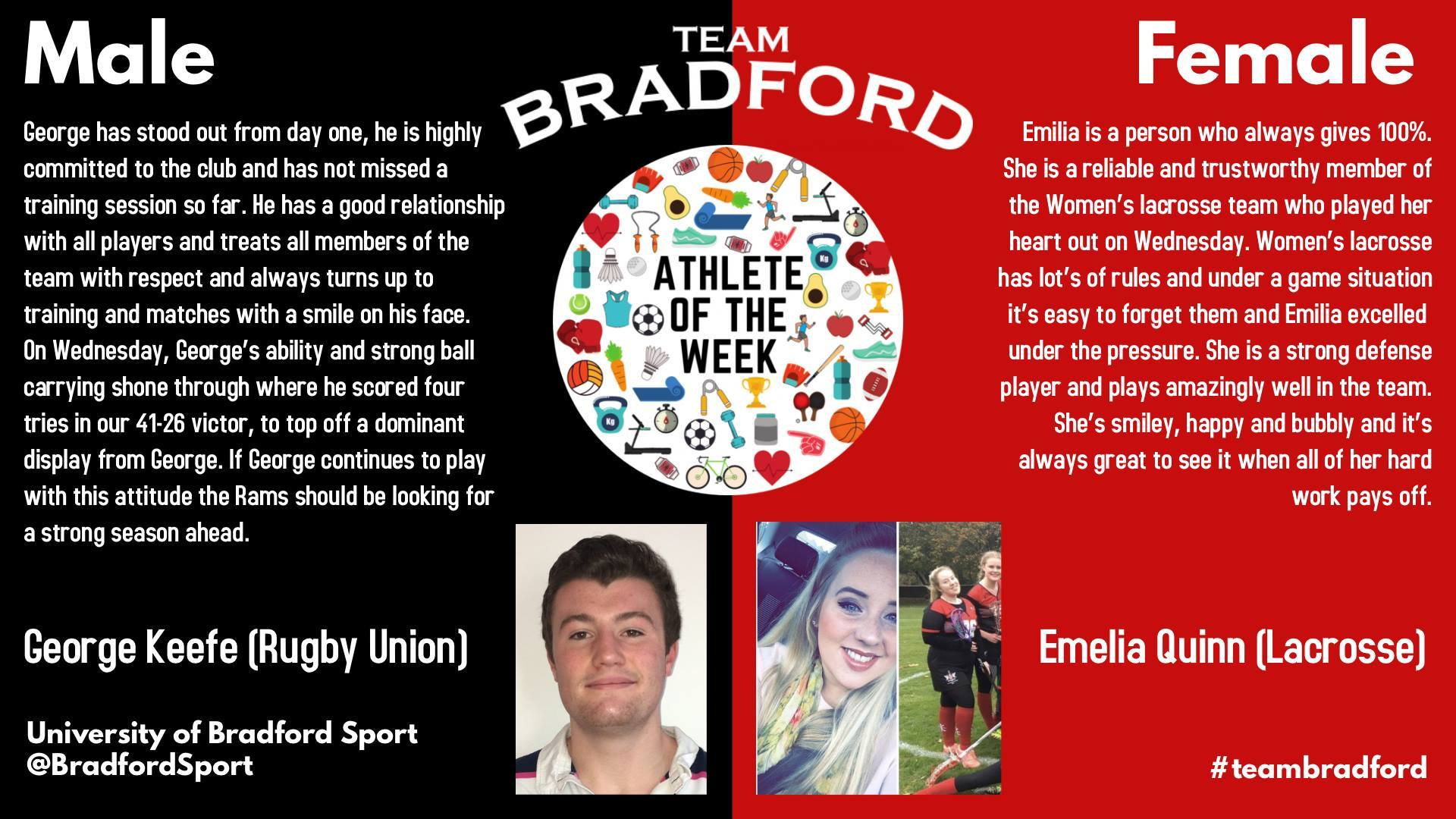 Athlete of the Week (18th October 2017)