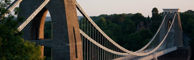 Clifton Suspension Bridge from one side looking across