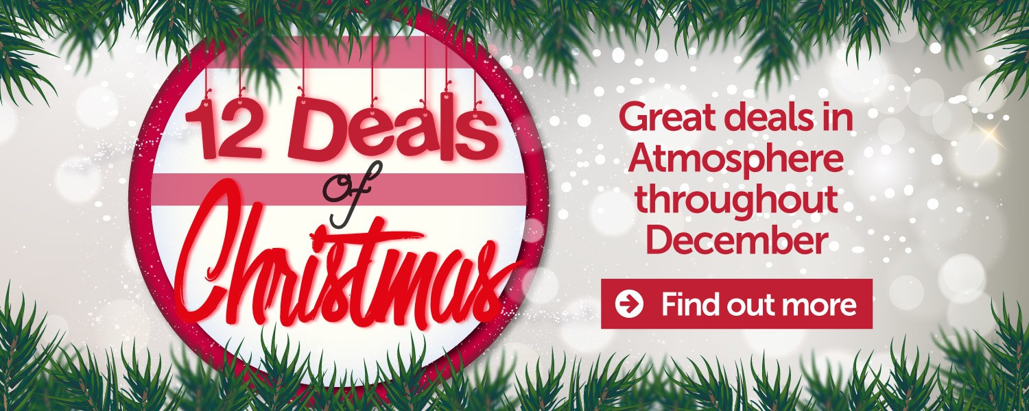 12 Deals of Christmas - Throughout December in Atmosphere