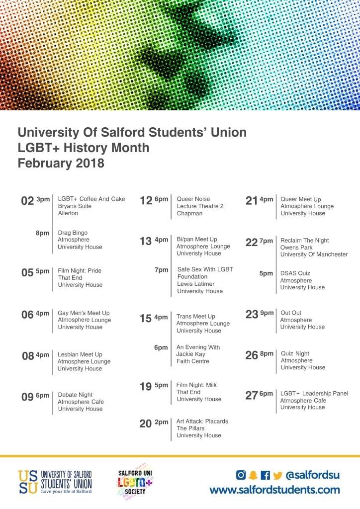 LGBT+ History Month Calendar
