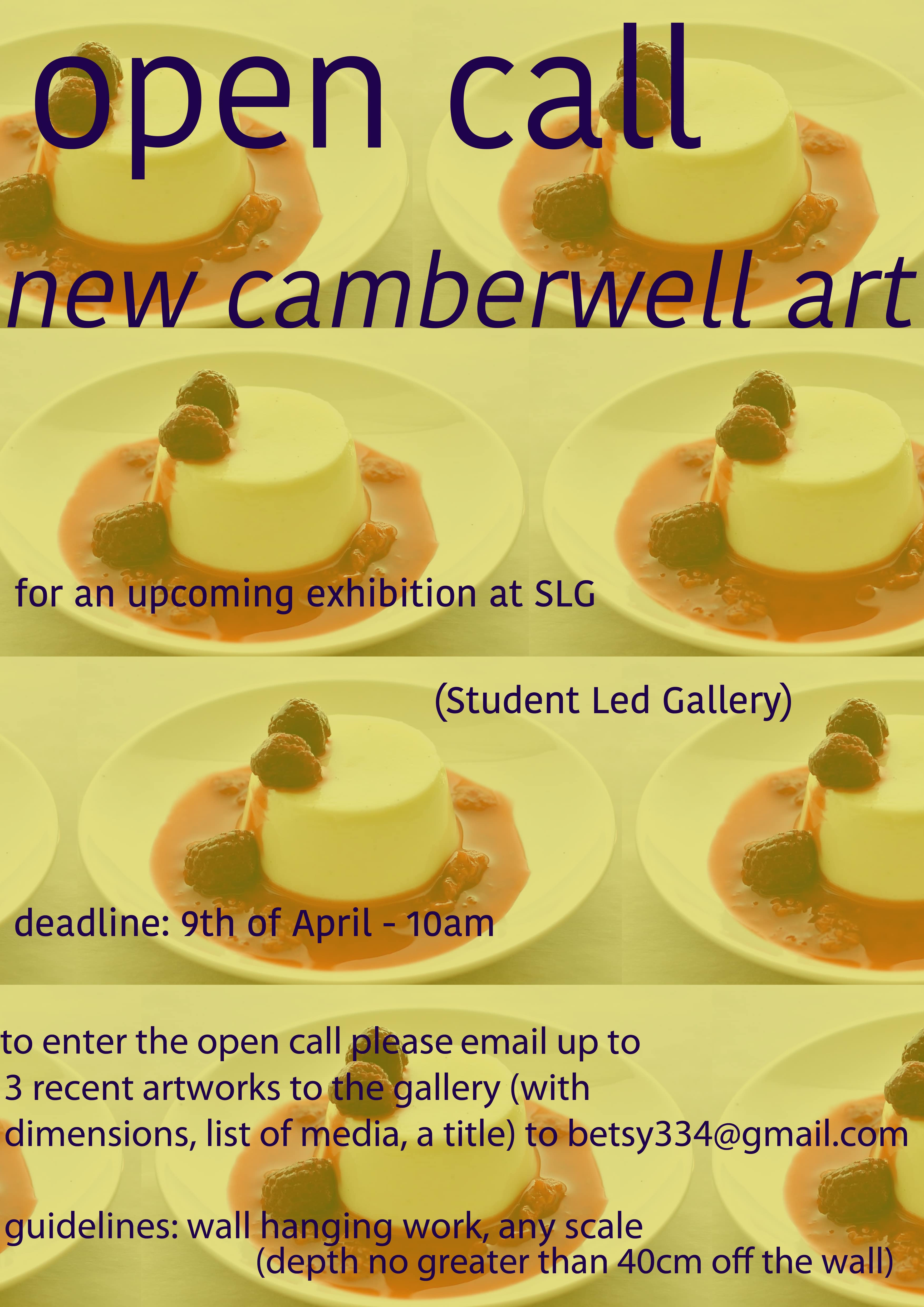 Showcase new camberwell art open call for forthcoming exhibition malvernweather Gallery