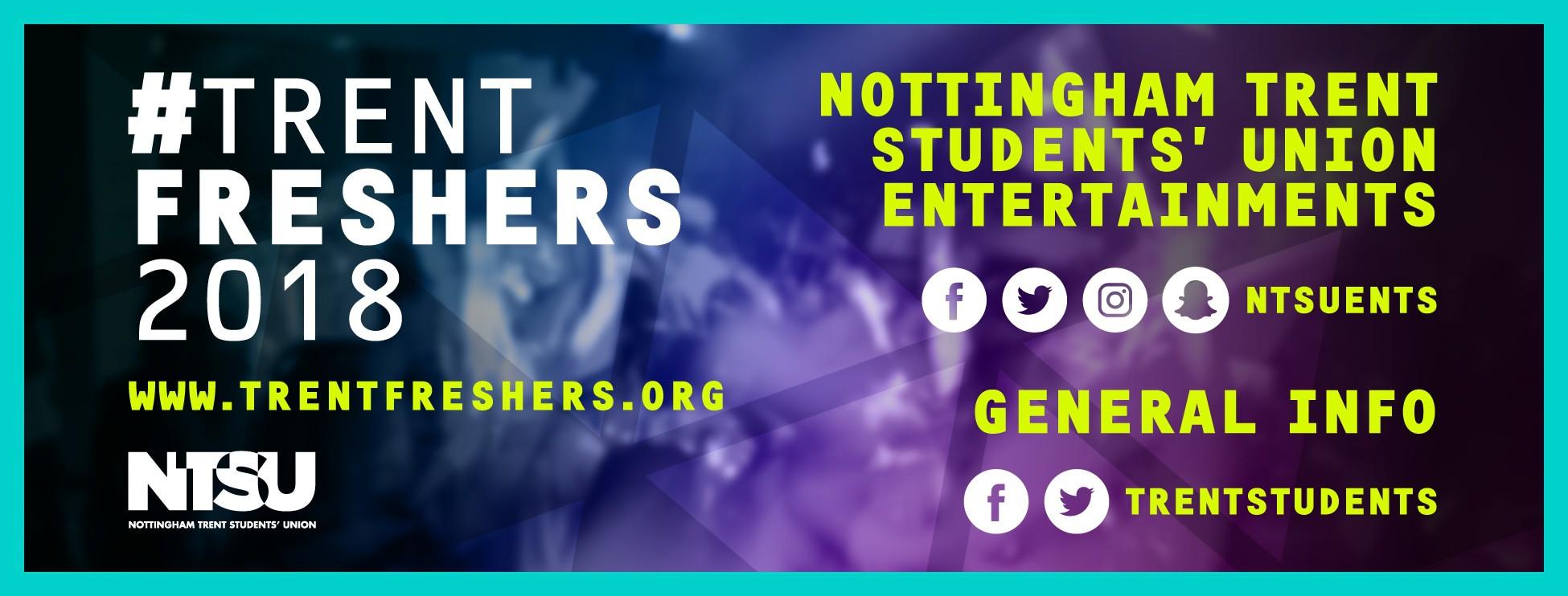 Trent Freshers 2018 Banner