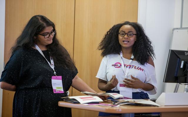 Shuwanna speaking at The Gathering 2018