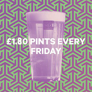£1.80 pints every Friday