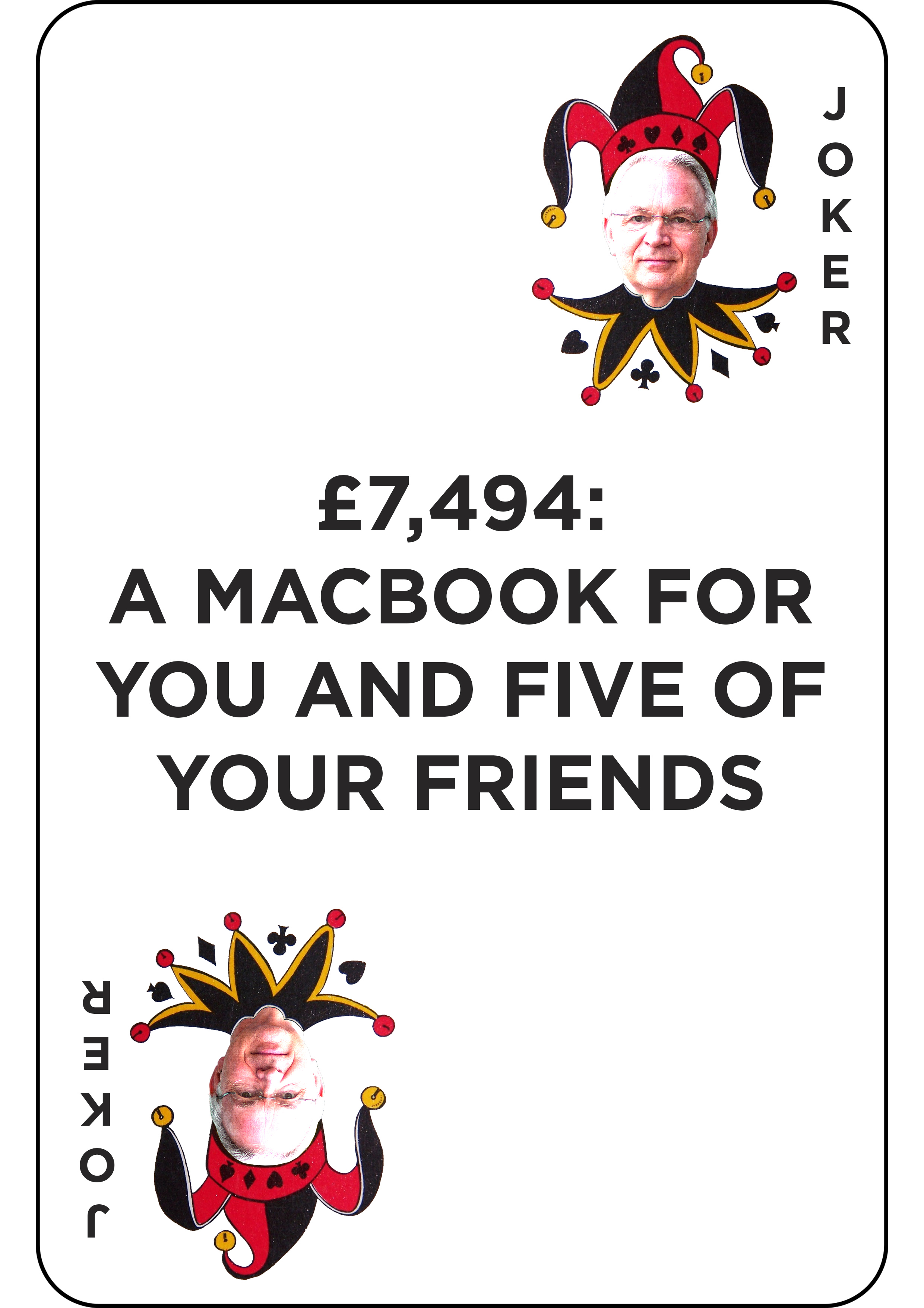 £7,494 - a macbook for you and five friends