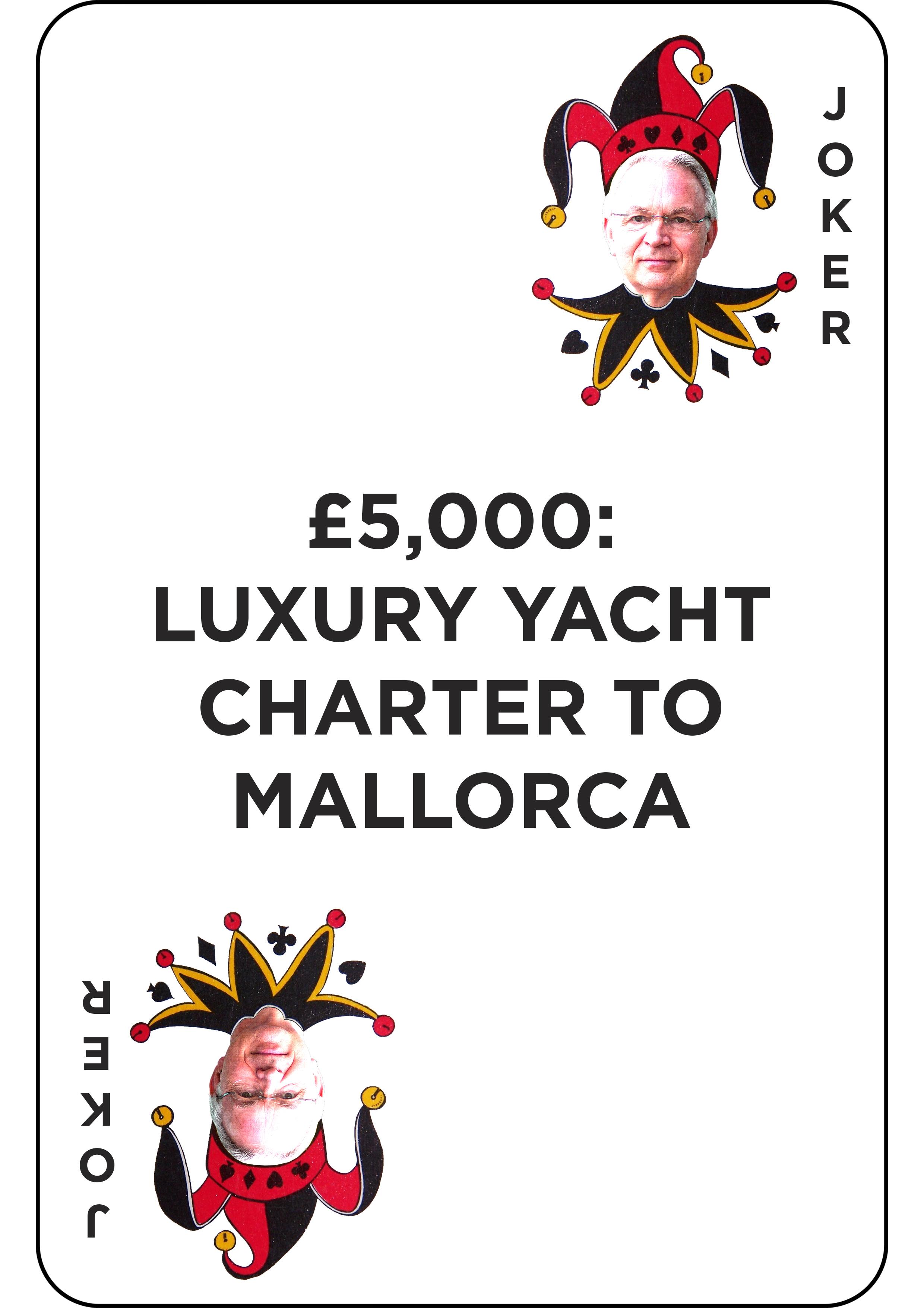£5,000: yacht charter to Mallorca